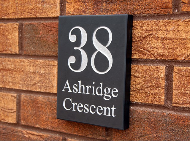 Welsh Slate House Sign - 200mm x 150mm x 20mm